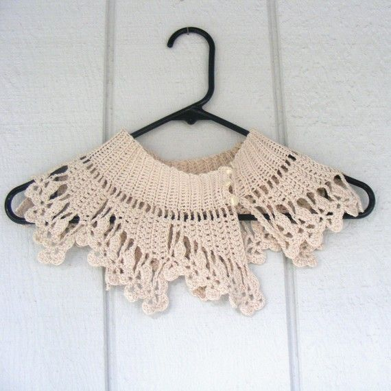 I want this edge on a slip ! crochet lace collar   extra special ...