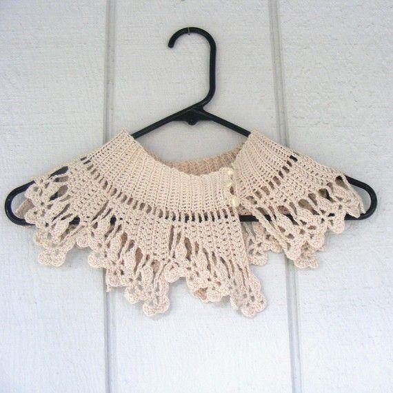 crochet lace collar | Collars | Pinterest | Tejido, Ganchillo y ...