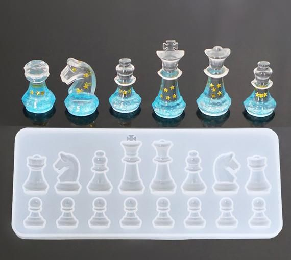 Chess Silicon Mold For Chess- Epoxy Resin Craft Mold