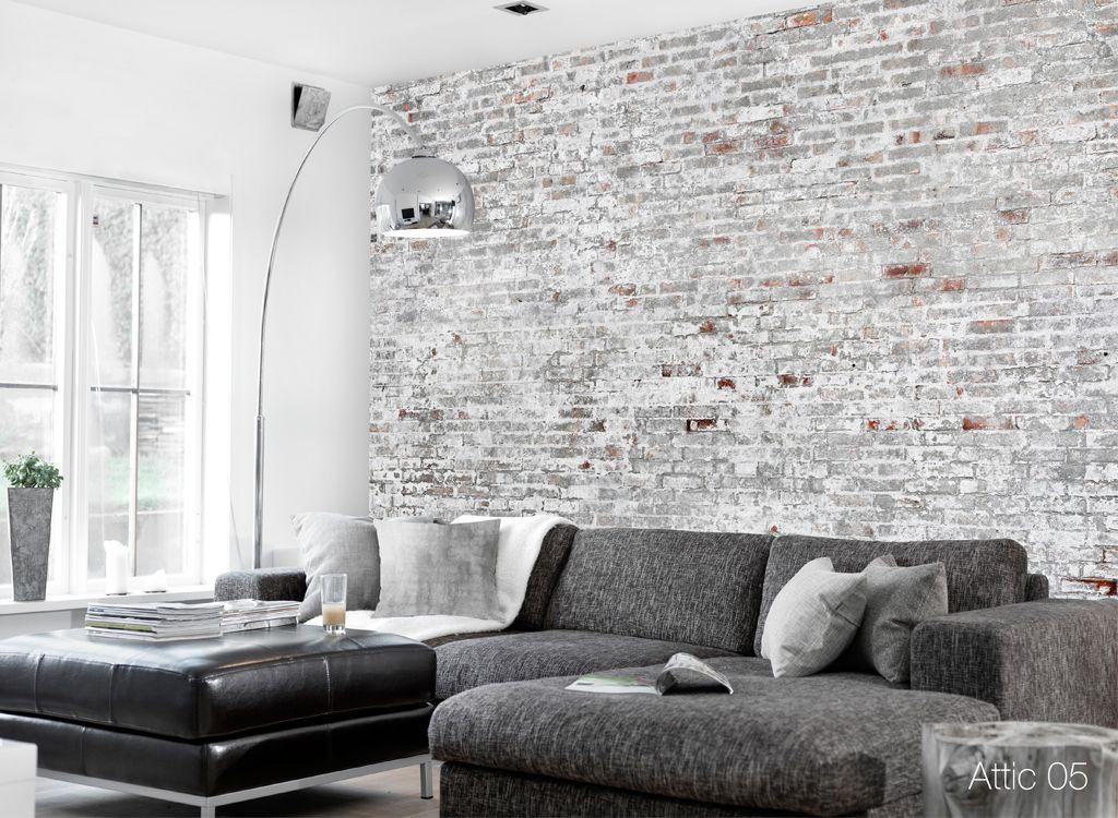 Attic 05 Resource Furniture Photographic Wallcovering Scandinavian Decor Living Room Concrete Wallpaper Living Room Scandinavian