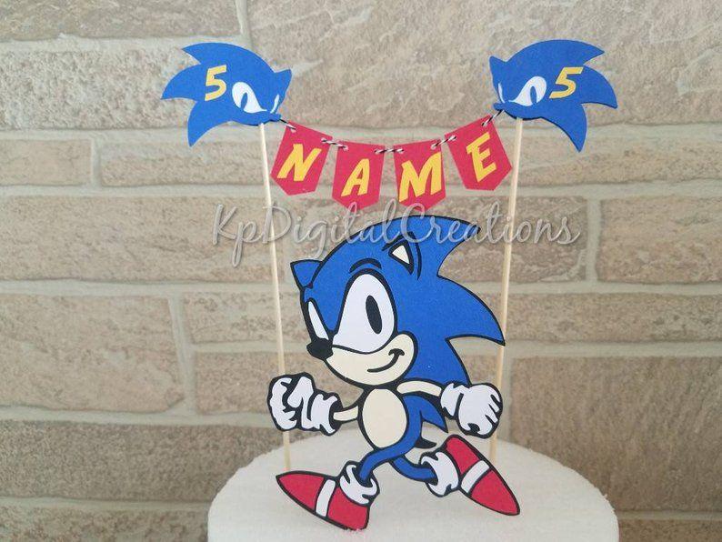 Sonic Hedgehog Cake Topper Sonic Birthday Party Sonic Hedgehog