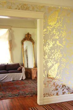 Film Reflective Wallpaper Wall Silver Platinum