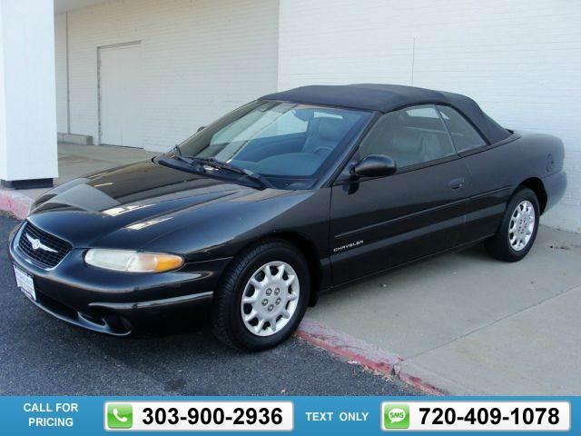 1999 Chrysler Sebring Jx 2dr Convertible Grey 108k Miles 3 850 108703 303 900 2936 Transmission Automatic Used Cars