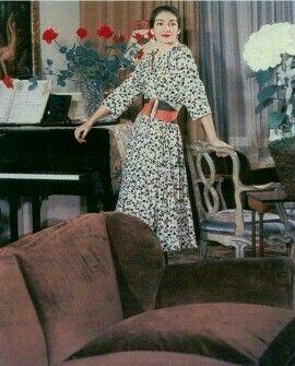 La Divina, Maria Callas, em sua casa em Milão (1955)