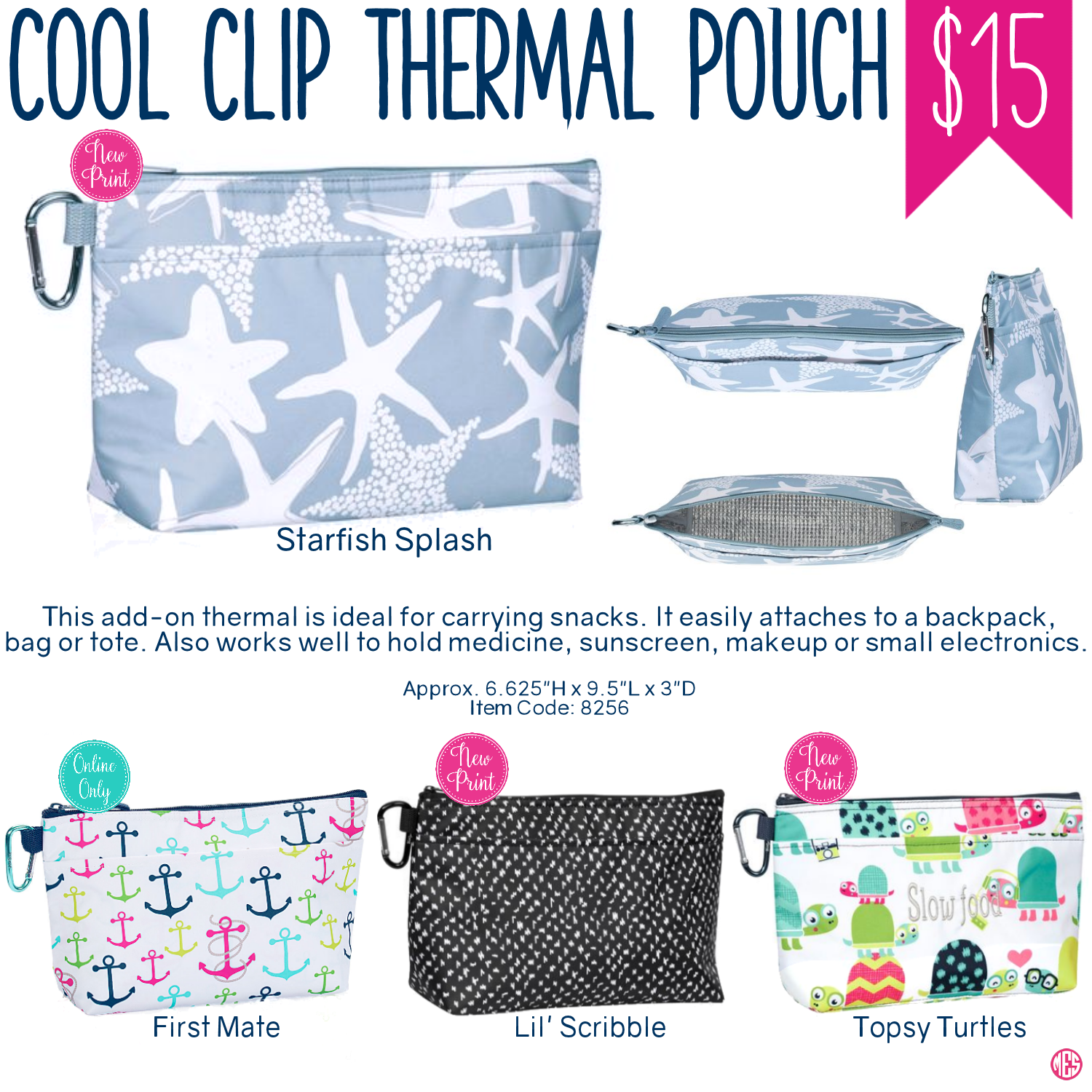 Thirty-One Cool Clip Thermal Pouch - Spring/