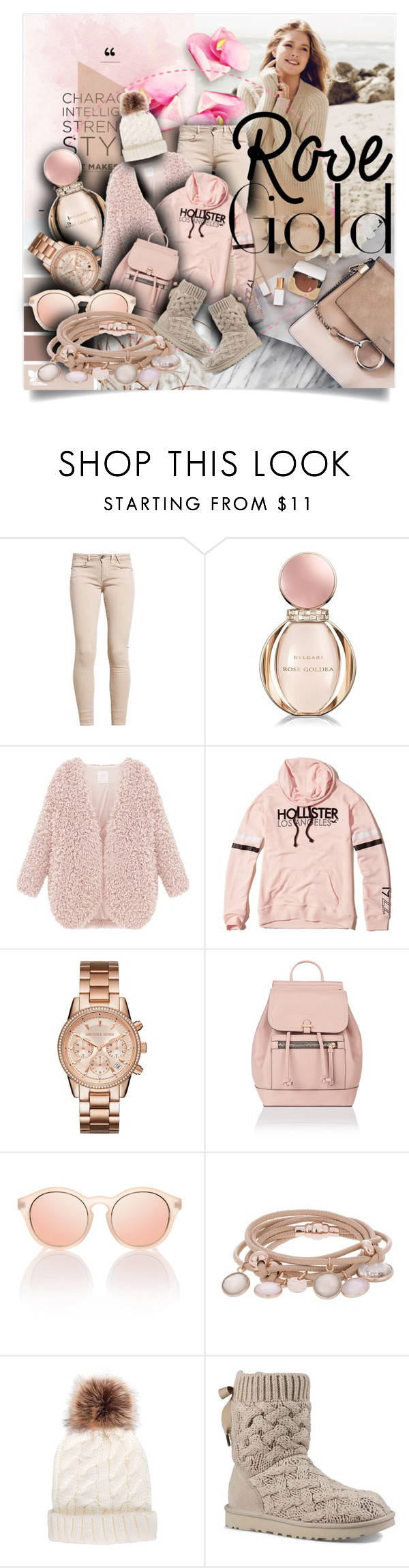"""Senza titolo #6318"" by doradabrowska ❤ liked on Polyvore featuring Repeat Cashmere, GUESS, Bulgari, Hollister Co., Accessorize, Le Specs, Marjana von Berlepsch and UGG"