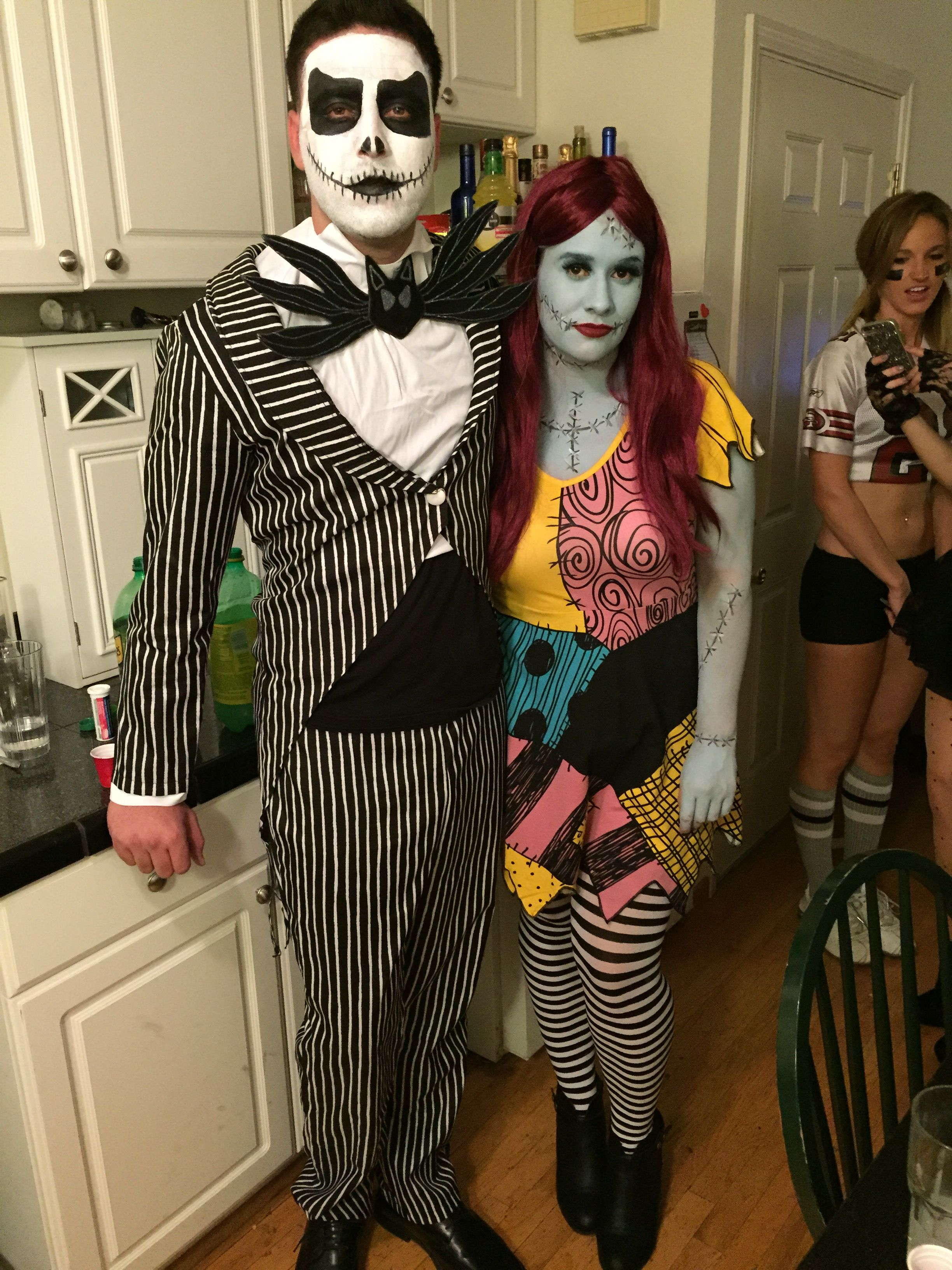 """jack skellington and sally finklestein from """"the nightmare before"""