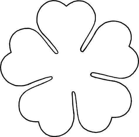 Flower Love five petal template by @BAJ, A flower template for a - flower template
