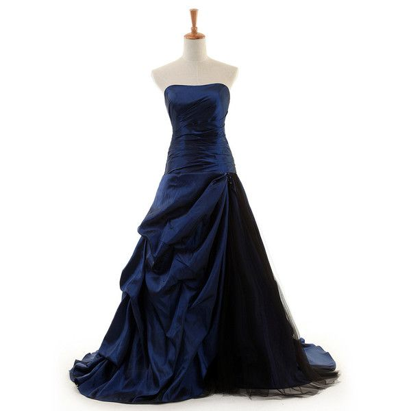 Long Prom Dress/Elegant Guest Dress/Party Dress/ Royal Blue Evening... ($140) ❤ liked on Polyvore featuring dresses, gowns, long blue dress, long gown, long evening gowns, prom gowns and long prom gowns