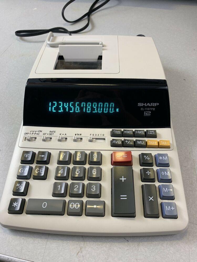 Sharp EL1197PIII 12 Digit Accounting Printing Calculator