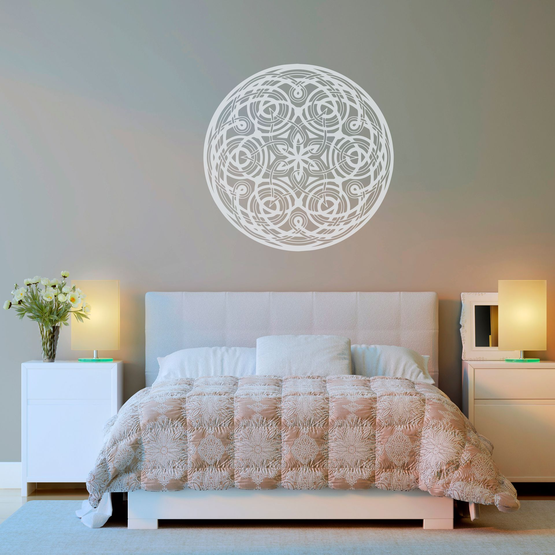 Vinilo decorativo mandala floral encu ntralo en www - Mandalas para pared ...
