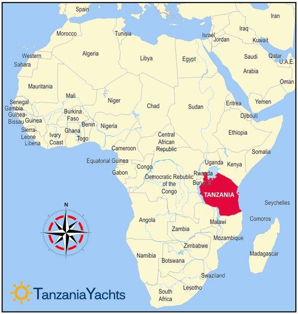 Map of Zanzibar Tanzania Africa | Vacations in Tanzania | Africa