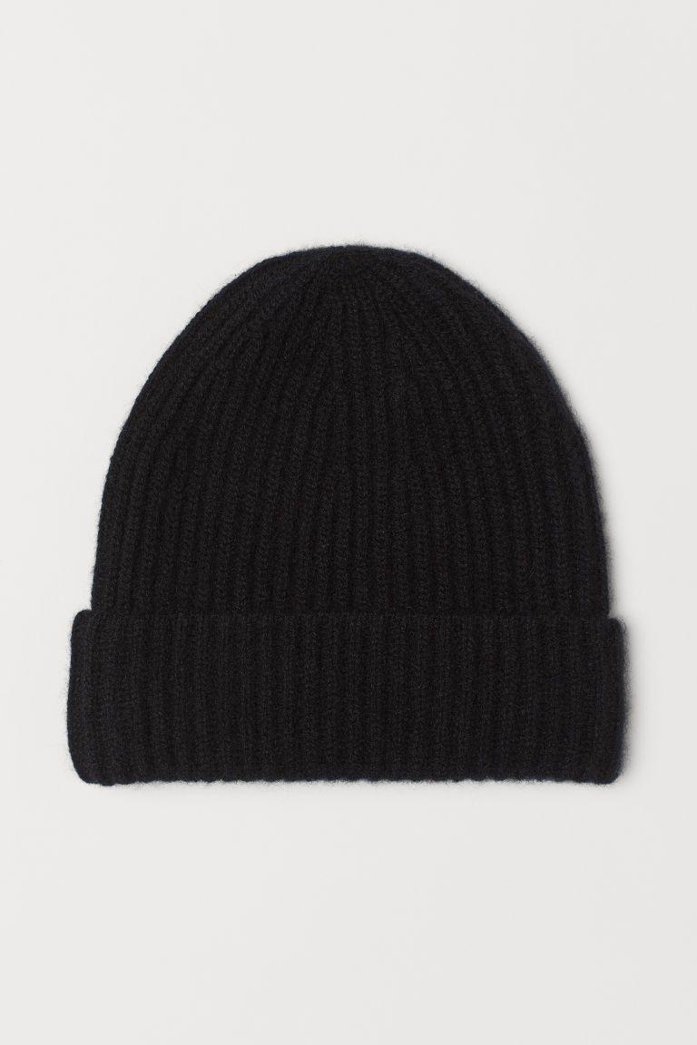 Cashmere Hat - Black - Ladies  494f0fd7ca4a