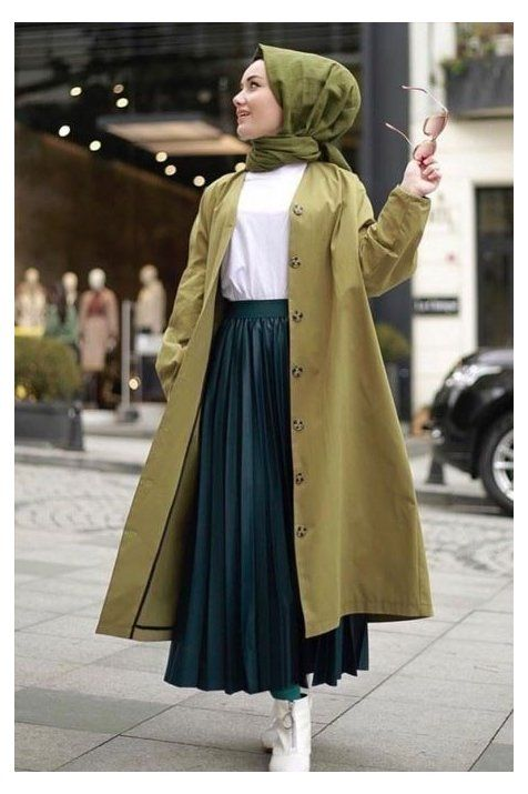 hijab winter outfits long skirts