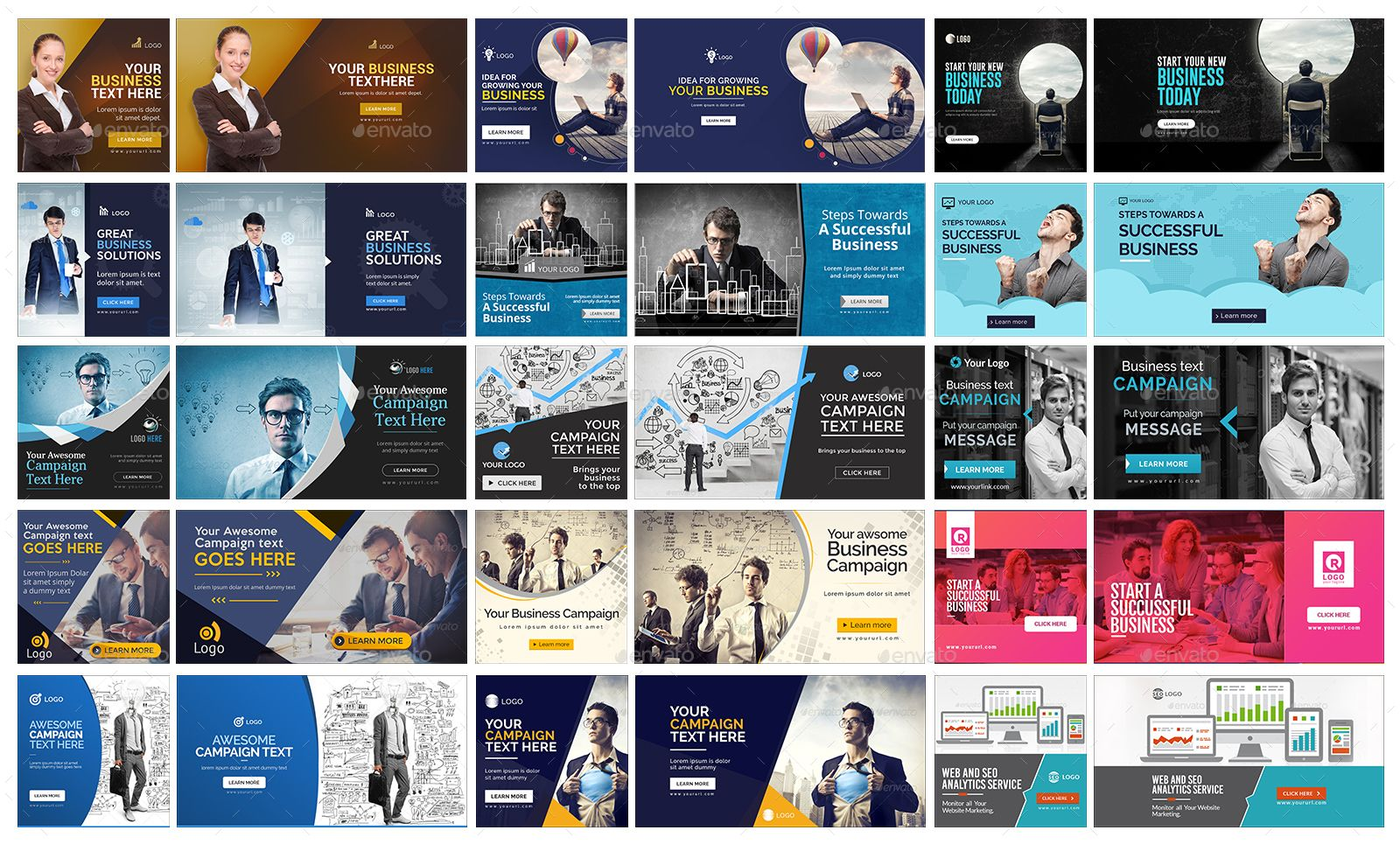 Facebook Ad Banners - 50 Designs - 2 Sizes Each #AD #