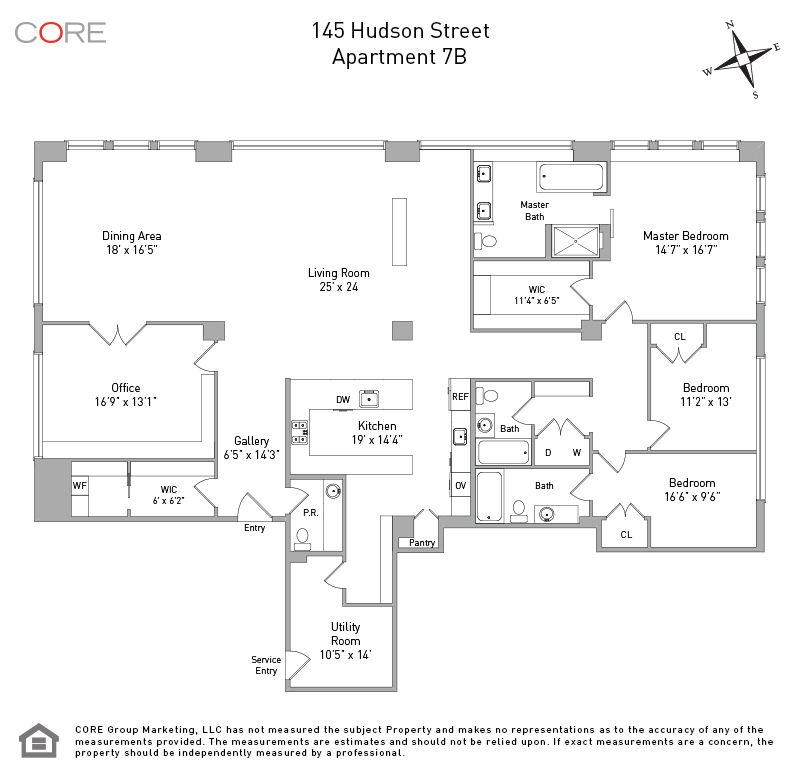 Tribeca Apartments For Rent: 145 Hudson Street #7B In Tribeca, Manhattan