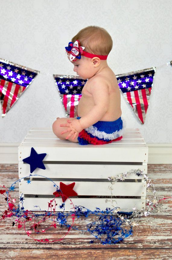 First 4th of july bloomer and headband set by lebebebowtique 24 95