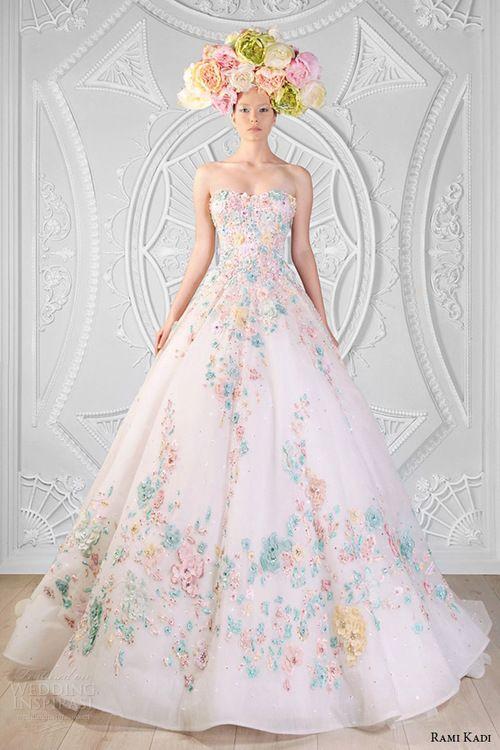 Image de dress, rami kadi, and floral