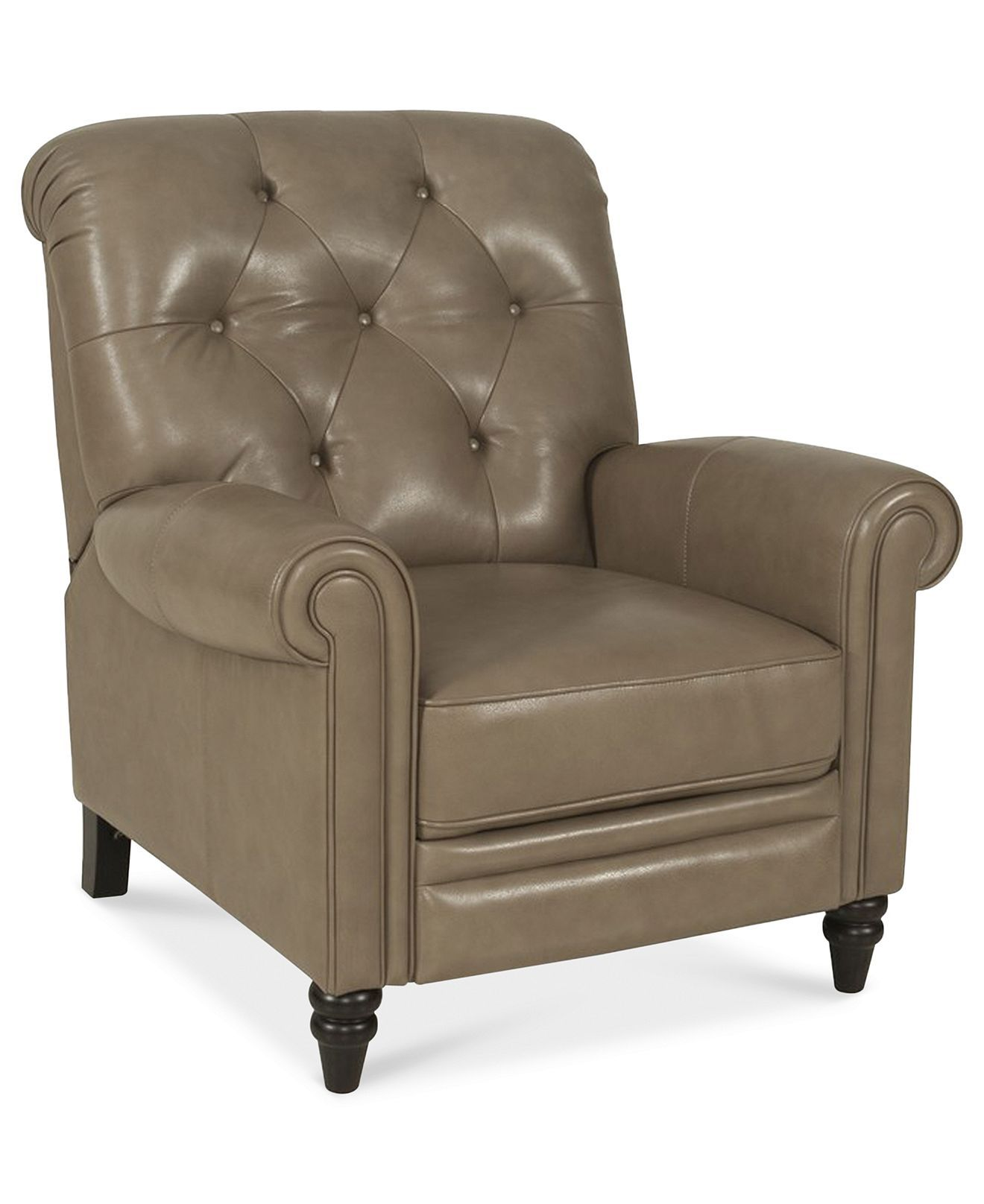 Bradyn Leather Pushback Recliner Created For Macy S