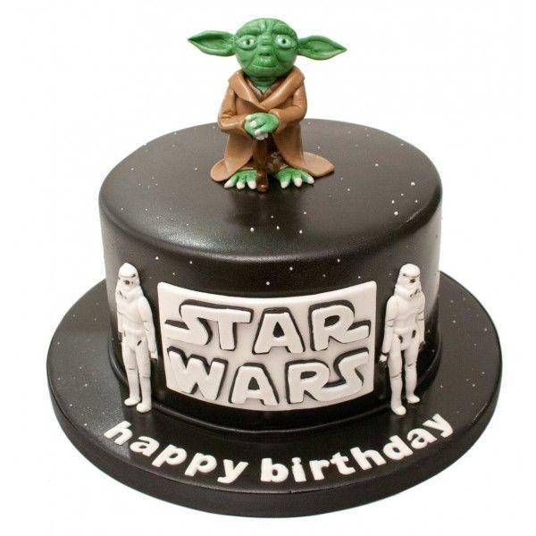 Star Wars Yoda Birthday Cake Star Wars Cakes Pinterest Star