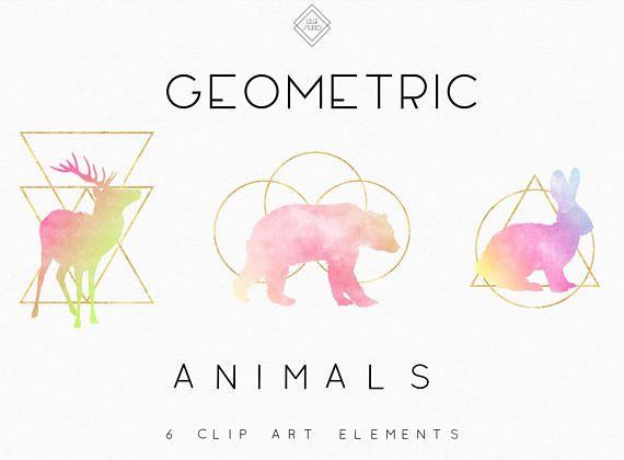 Geometric Animal Clipart Llama Clipart Elephant Clip Art Etsy Elephant Clip Art Geometric Animals Clip Art