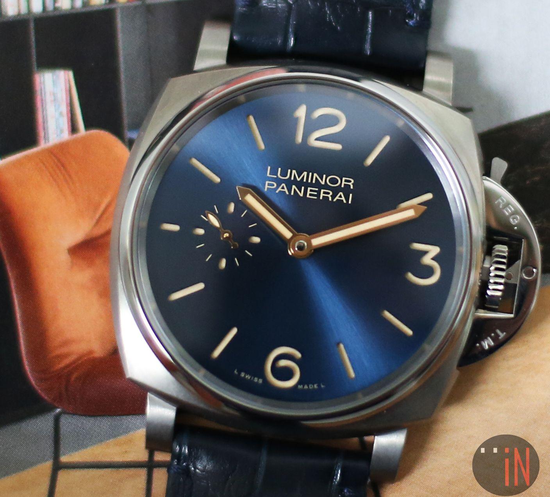 """Lean Back & Soak It iN!"" #Panerai 42mm #Luminor Due 3 Days Titanium Ref#: PAM 728 * Blue Dial http://www.elementintime.com/Officine-Panerai-Luminor-Due-3-Days-PAM-728-Titanium-Blue-Dial-New"