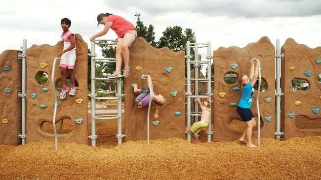 Playground Landscaping Ideas | sprawling outer suburbs check out their famous animal rockers fence ...