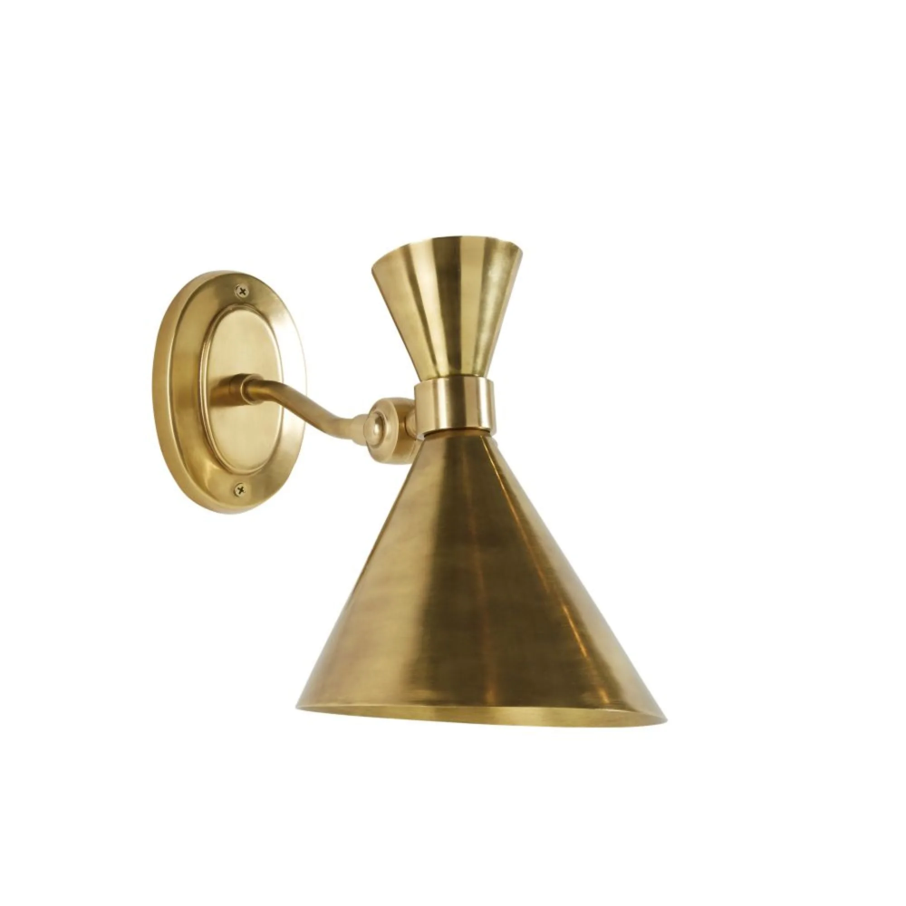 Wandleuchte Aus Metall Goldfarben Metal Wall Lamp Wall Lamps