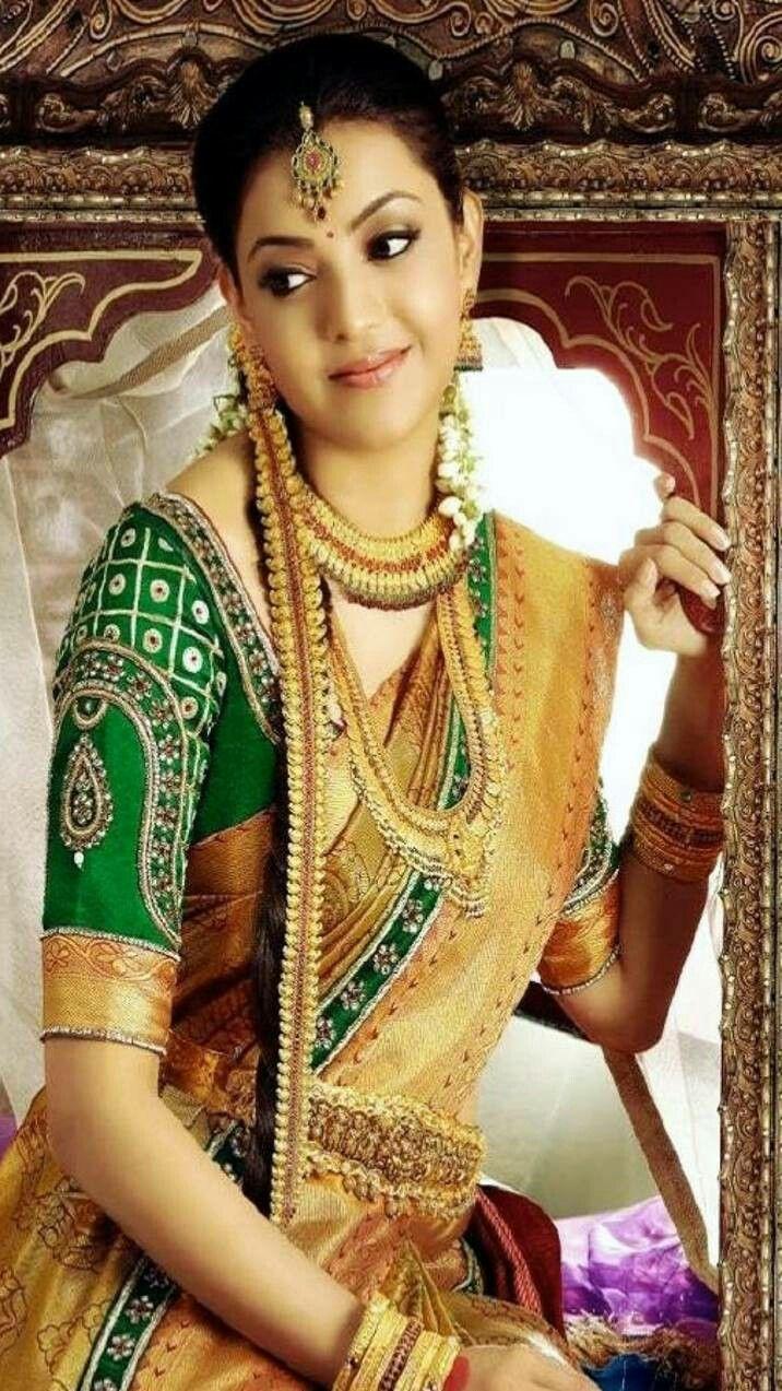 Kajal Aggarwal Wedding saree blouse designs, New bridal