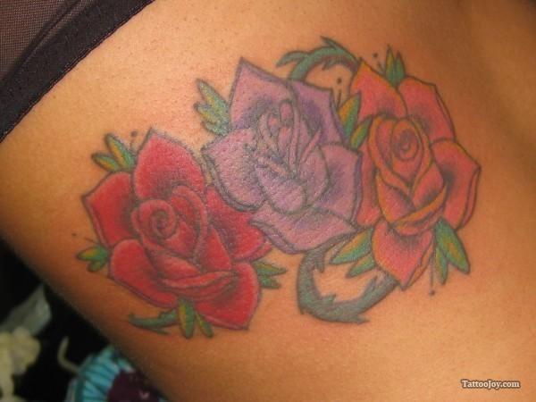 c126c7dd1 pics of orange and purple roses | Red Purple Orange Rose Tattoo ...