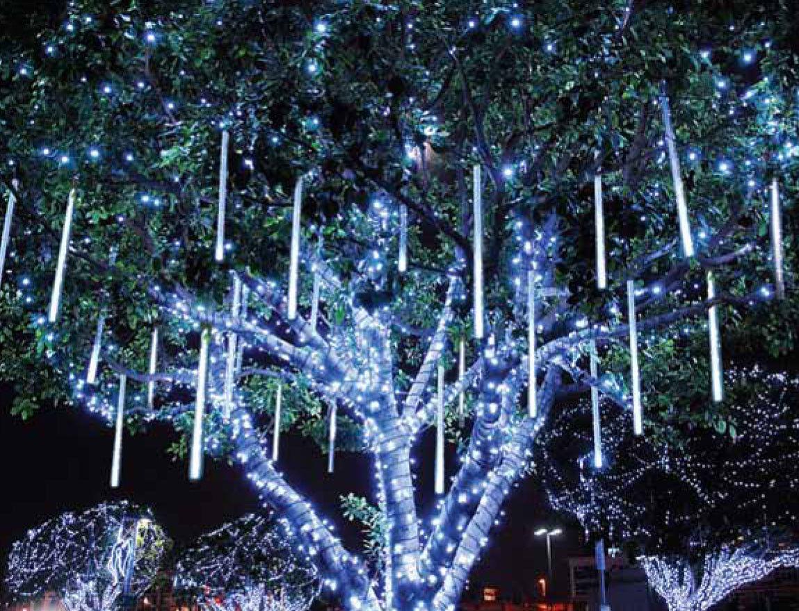 LED Cascade and Snowfall Lights | DOWNTOWN | Pinterest | Christmas ...