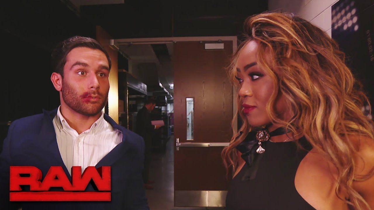 Alicia Fox Kisses Noam Dar Raw Jan 9 2017 Noam Dar