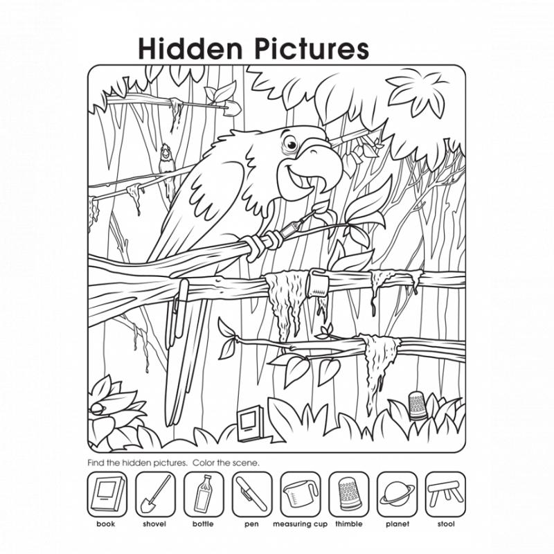 Hidden Picture Worksheet for Middle School | Kiddo Shelter