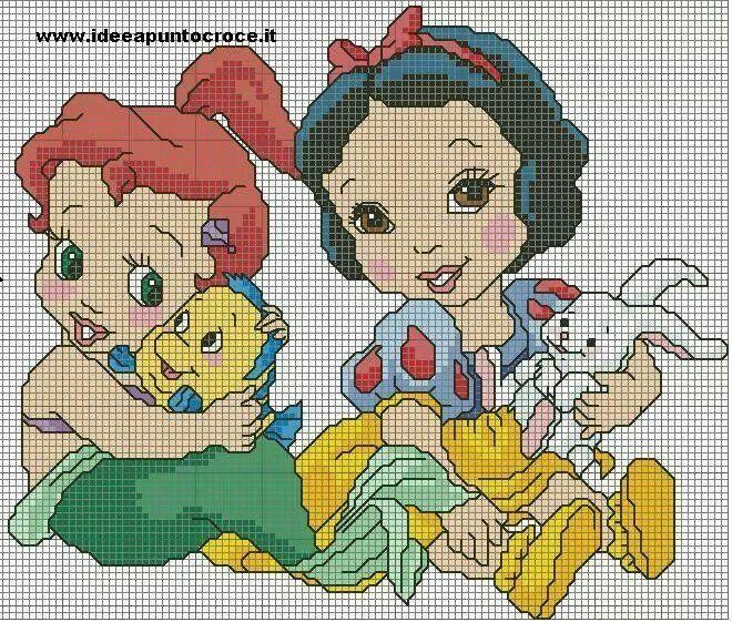Ariel y Blanca Nieves Niñas