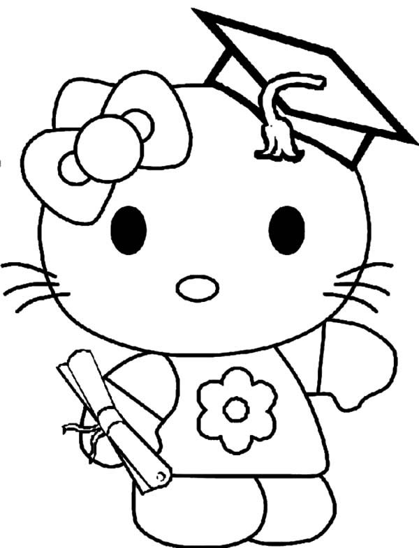 the best hello kitty graduation coloring pages http coloring