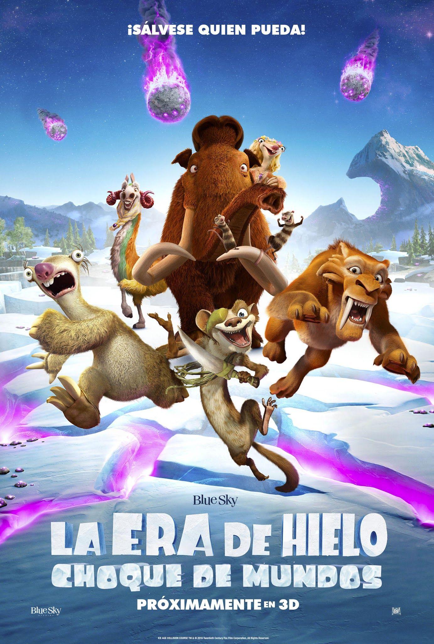 La era de hielo Choque de mundos poster final // Ice age Collision ...