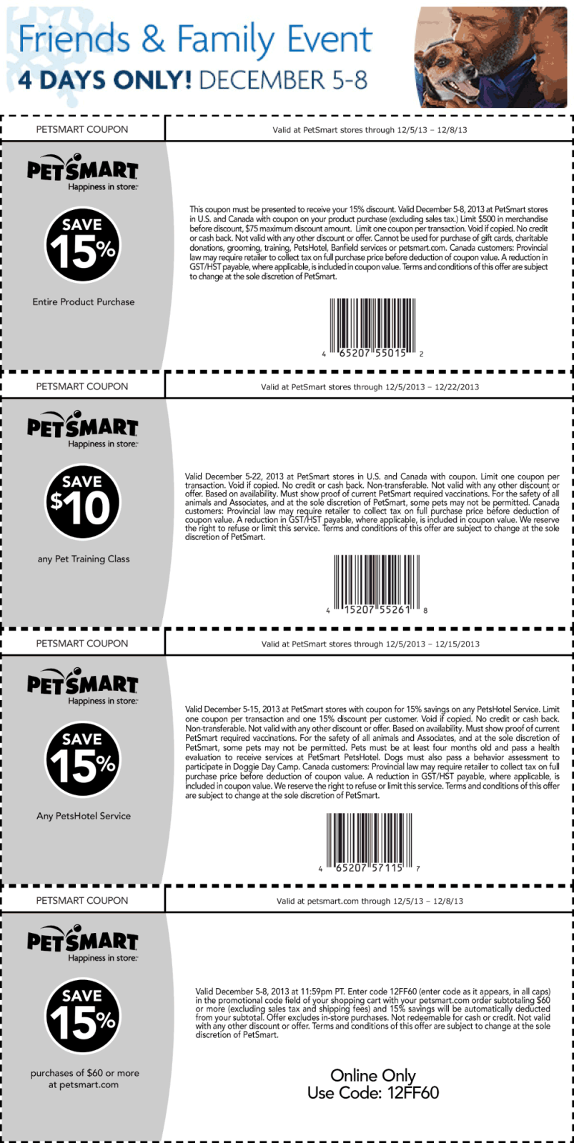Pinned December 6th 15 Off At Petsmart Or Online Via Promo Code 12ff60 Coupon Via The Coupons App Coupon Apps Smart Shopping Coupons