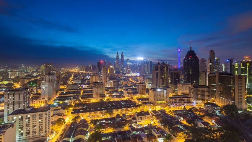 Time Lapse Wide Aerial Kuala Stock Footage Video 100 Royalty Free 1032018494 Kuala Lumpur City City View City Skyline