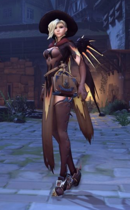 Witch mercy cosplay sexy