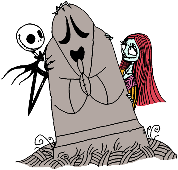 Jack Skellington And Sally Clip Art From The Nightmare Before Christmas Jackskellington Sally Nightmarebef Nightmare Before Christmas Disney Scrapbook Art