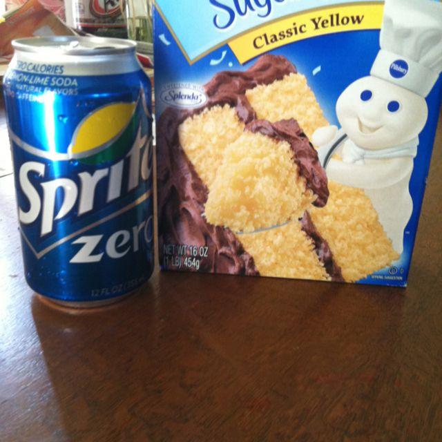 ww cake recipe diet soda