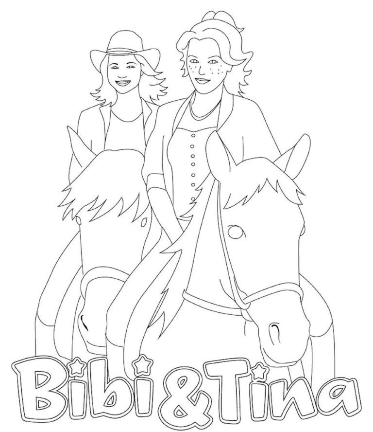 bibi und tina ausmalbilder  ausmalbilder ausmalbilder