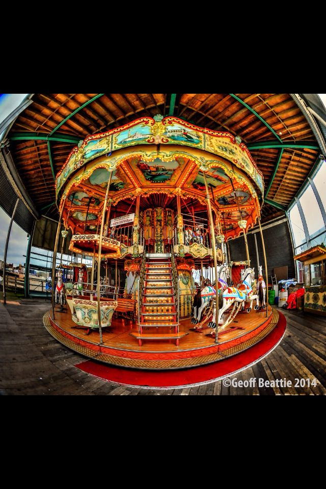 HDR of the Merry Go round on Blackpool Central pier