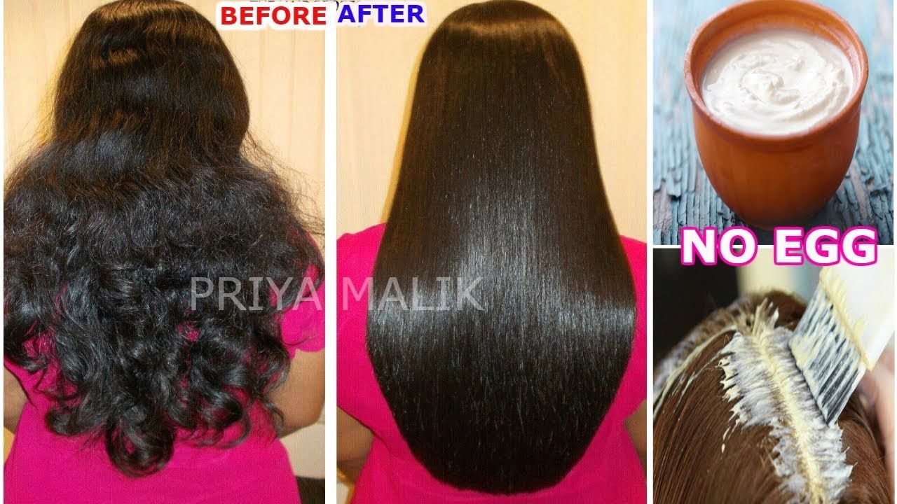 Hair Smoothening At Home Without Egg Get Smooth Shiny Straight Hair Hair Smoothening Egg For Hair Straight Hairstyles