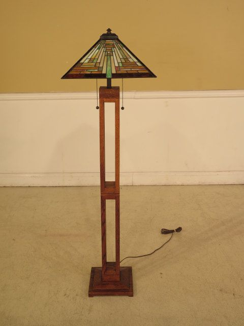 27006e Mission Oak Arts Crafts Floor Lamp By Stenellaantiques