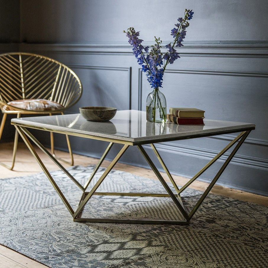 Zodiac Marble Coffee Table Art Deco Coffee Table Simple Coffee
