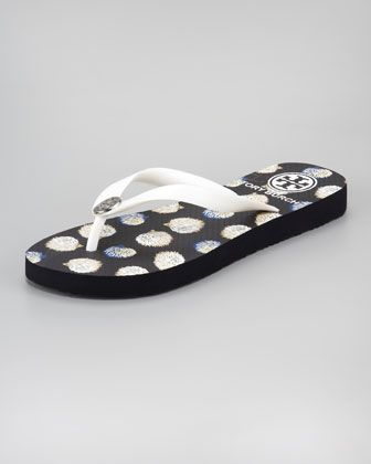 6a5fff722a2a Flip-Flop Rubber Sandal by Tory Burch at Neiman Marcus. Size 8 ...