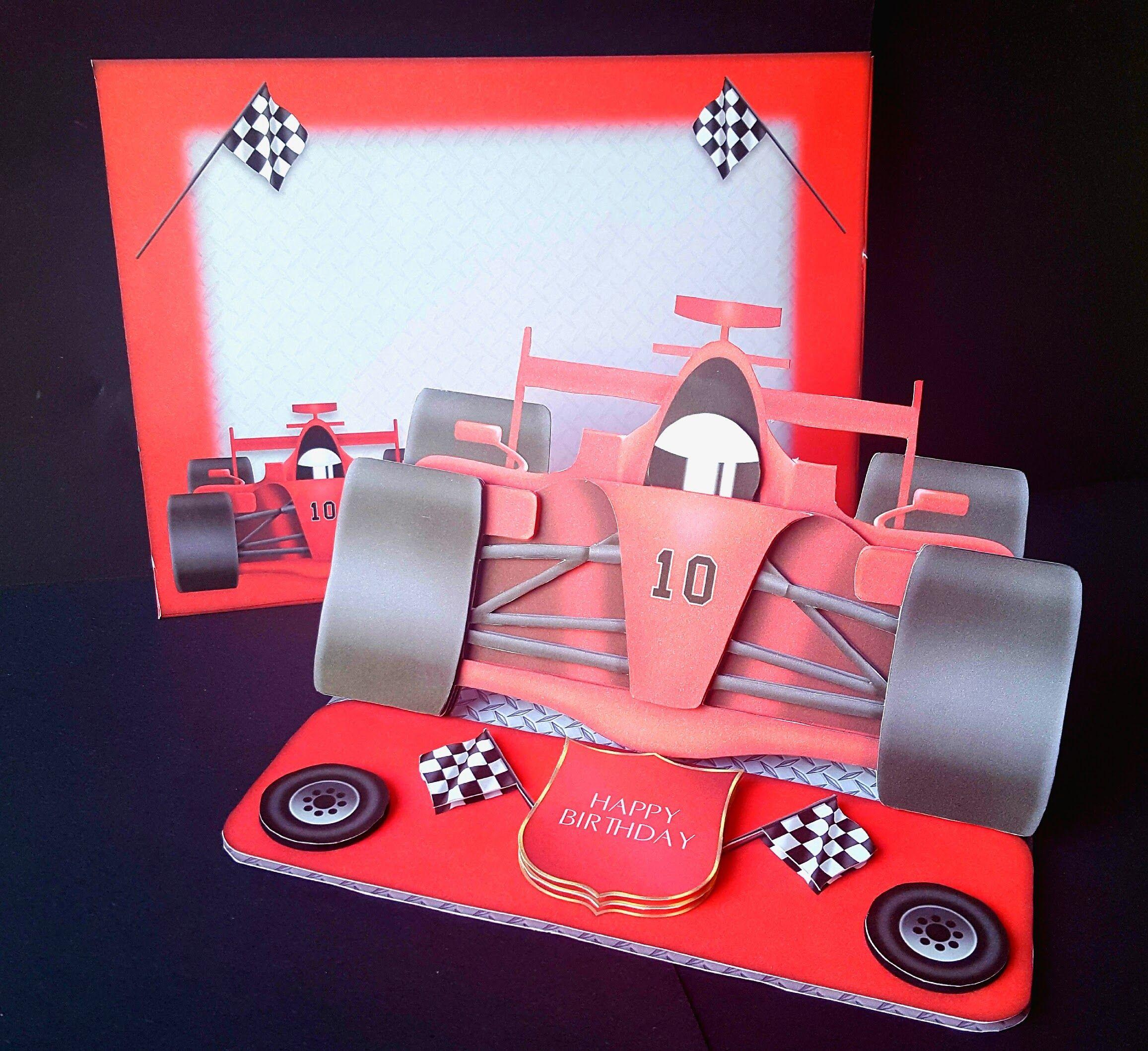 F1 formula one racing car shaped birthday car with