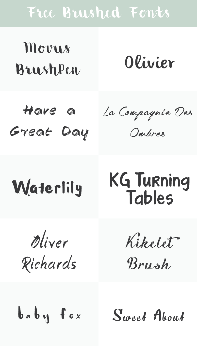 Free Brush Fonts | Typography and Fonts | Brush font, Hand