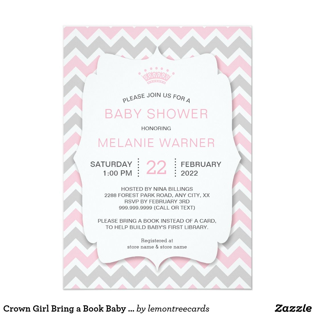 Crown Girl Bring a Book Baby Shower invites | { Oh Baby! - Shower ...